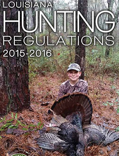 Louisiana Hunting Regulations 2015-2016 cover
