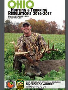 Ohio Hunting & Trapping Regulations 2016-2017 cover
