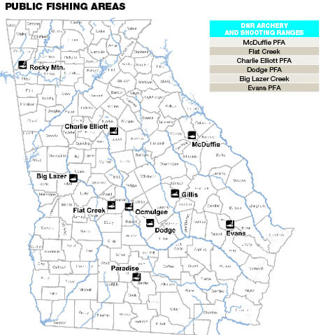 public fishing areas georgia fishing regulations guide