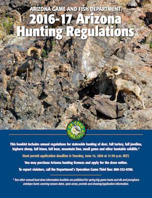 Arizona Hunting Regulations Cover