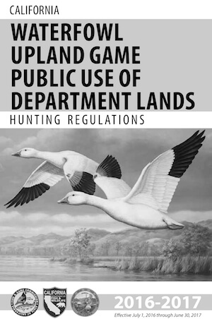 California Hunting Regulations Cover