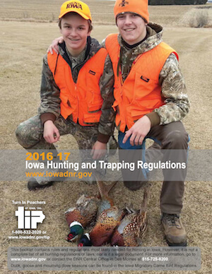 Iowa Hunting Regulations Cover