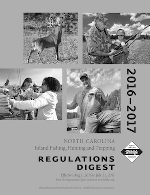 North Carolina Hunting Regulations Cover