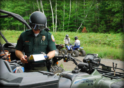 Law enforcement new hampshire atv snowmobile for Vt fish and game license
