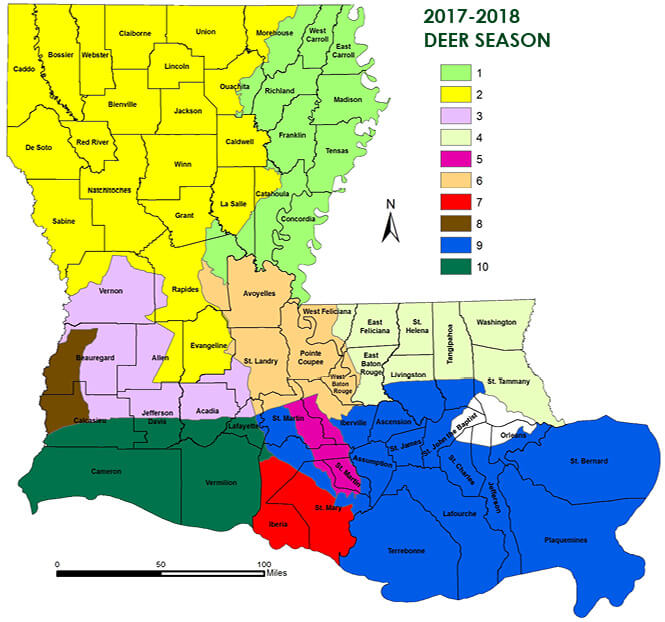Deer hunting seasons louisiana hunting seasons for Washington fishing license cost 2017