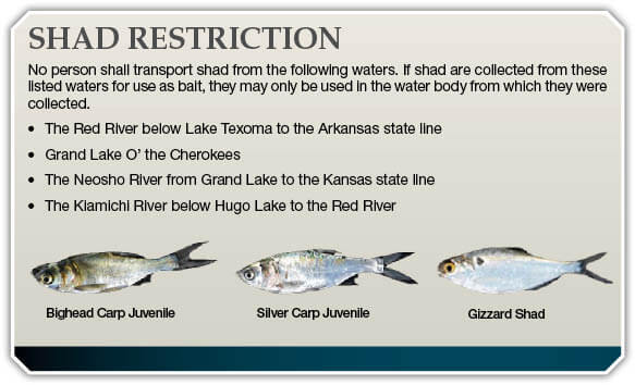 Aquatic nuisance species ans oklahoma fishing for Oklahoma fishing license cost 2017