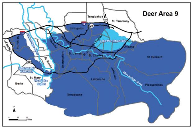 Deer Hunting Area 9 Louisiana Hunting Seasons Regulations