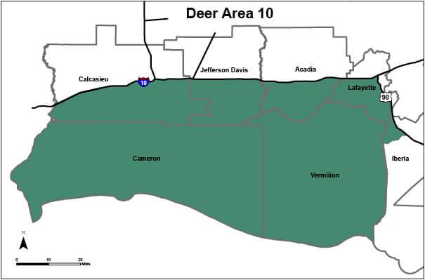 Deer Hunting Area 10 Louisiana Hunting Seasons Regulations