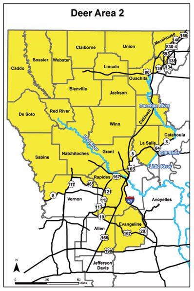 Deer Hunting Area 2 Louisiana Hunting Seasons Regulations