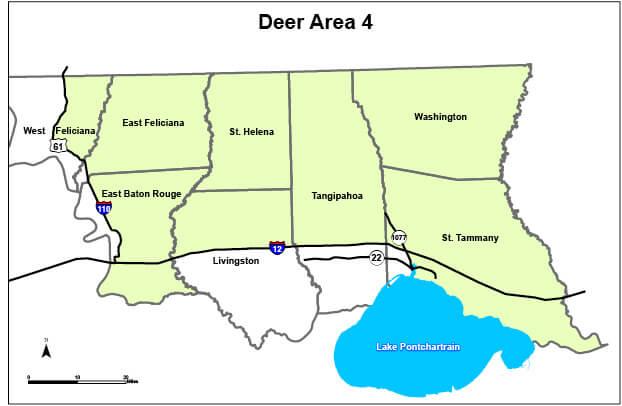 Deer Hunting Area 4 Louisiana Hunting Seasons Regulations