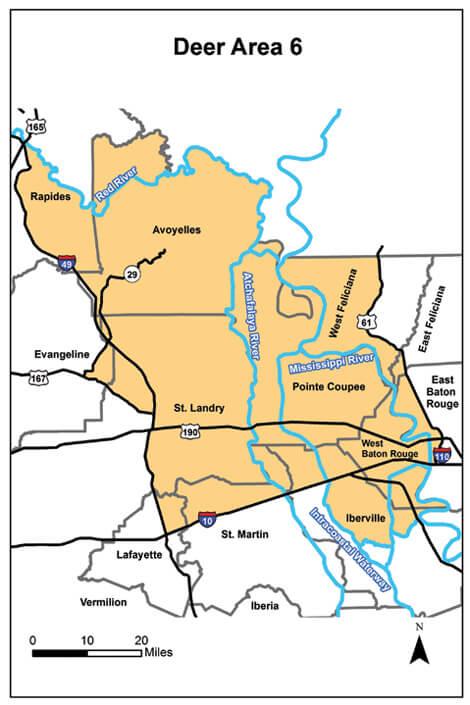 Deer Hunting Area 6 Louisiana Hunting Seasons Regulations