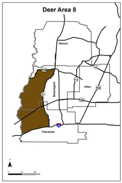 Deer Hunting Area 8 Louisiana Hunting Seasons Regulations