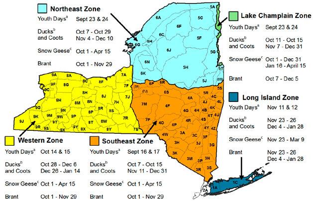 New york hunting seasons regulations 2017 eregulations for Fishing regulations ny