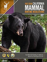 California Mammal Hunting Regulations Cover