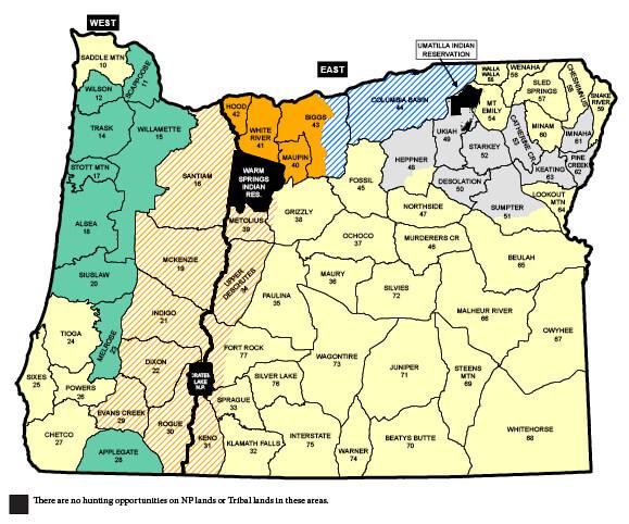 Elk Seasons Oregon Hunting Seasons Regulations 2018