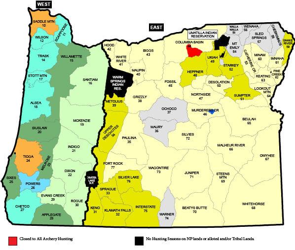Elk Seasons Oregon Hunting Seasons Regulations 2018 Eregulations