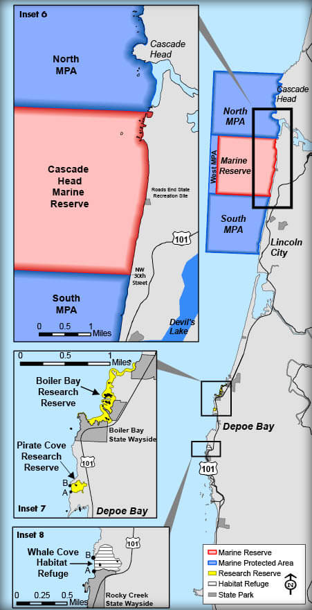 Management designations for marine areas oregon fishing for Oregon fishing license cost 2017