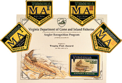 Virginia angler recognition program virginia fishing for Michigan fishing license price