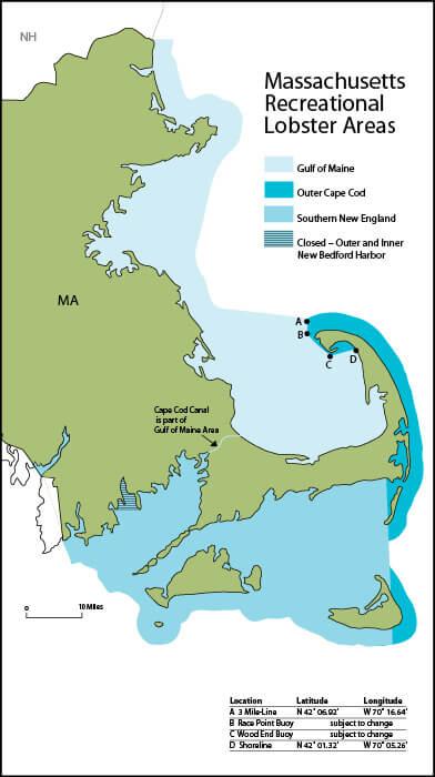 Recreational lobster and crabbing regulations for Massachusetts saltwater fishing regulations