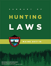 Maine Hunting Regulations Cover