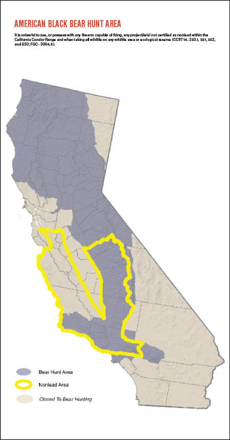 Bears In California Map Bear Hunting | California Big Game Hunting Seasons & Regulations
