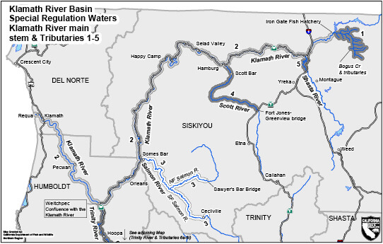 Klamath River Basin Regulations | California Supplement ... on klamath mountains map, lake of the woods map, klamath marsh map, trinity lake map, klamath national forest map, highland map, morgan hill map, klamath basin map, lower klamath national wildlife refuge map, southern oregon northern california map, klamath lake map, prairie creek redwoods state park map, trinity county map, roosevelt national forest trail map, oregon rivers map, klamath county map, six rivers national forest map, humboldt county map, redwood national and state parks map,