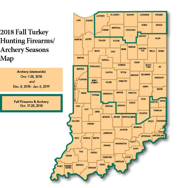 Feral Swine Sightings In Michigan Map.Wild Turkey Regulations Indiana Hunting Seasons Regulations