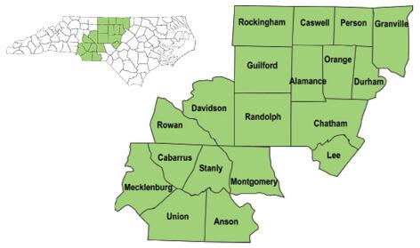 Richmond County Nc Map.Deer Zone Maps North Carolina Hunting Fishing Regulations 2018