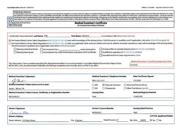 Commercial Documentation Manual Georgia – 2018 Eregulations Requirements Drivers Medical