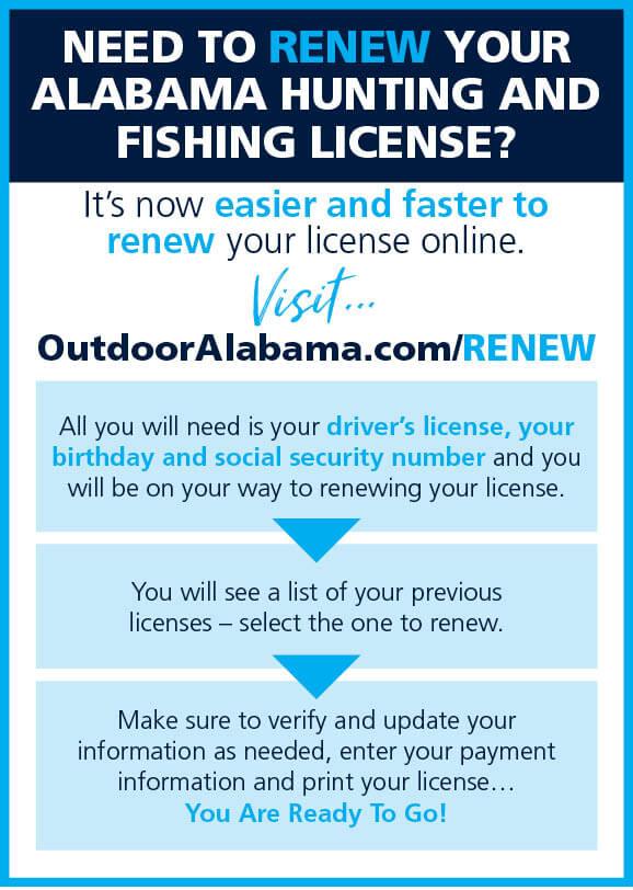 sport fishing & hunting laws & regulations   alabama hunting