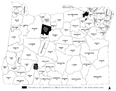 Irrigon Oregon Map.State Wildlife Area Regulations Oregon Game Bird Seasons