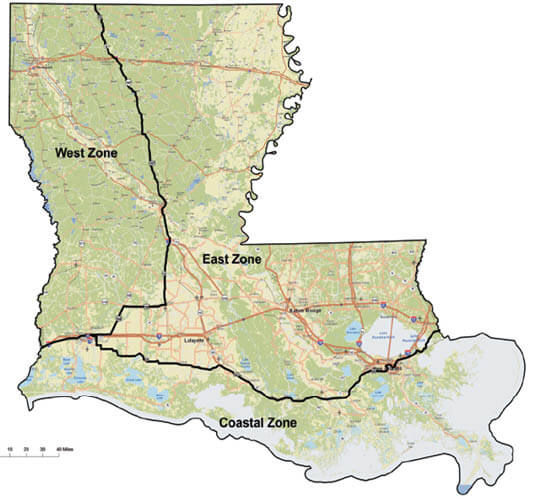 Waterfowl Hunting Zones Map Louisiana Hunting Seasons