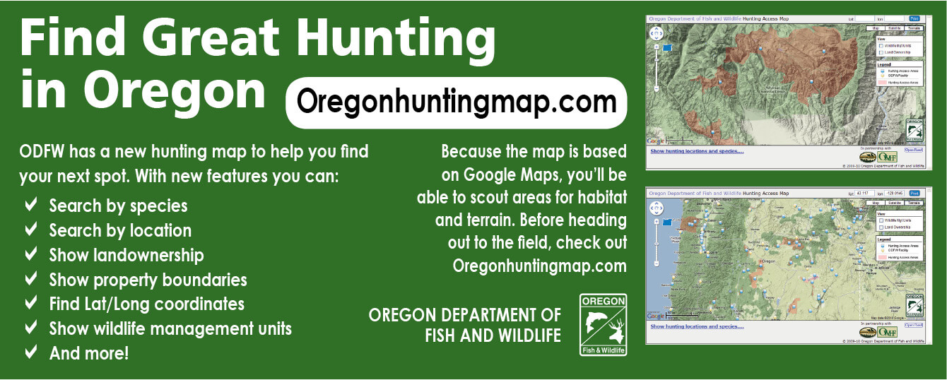 Map Availability | Oregon Hunting Seasons & Regulations