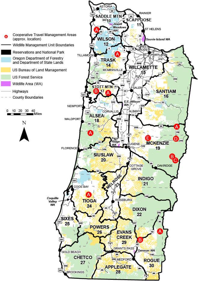 Western Oregon WMU\'s | Oregon Hunting Seasons & Regulations – 2019 ...