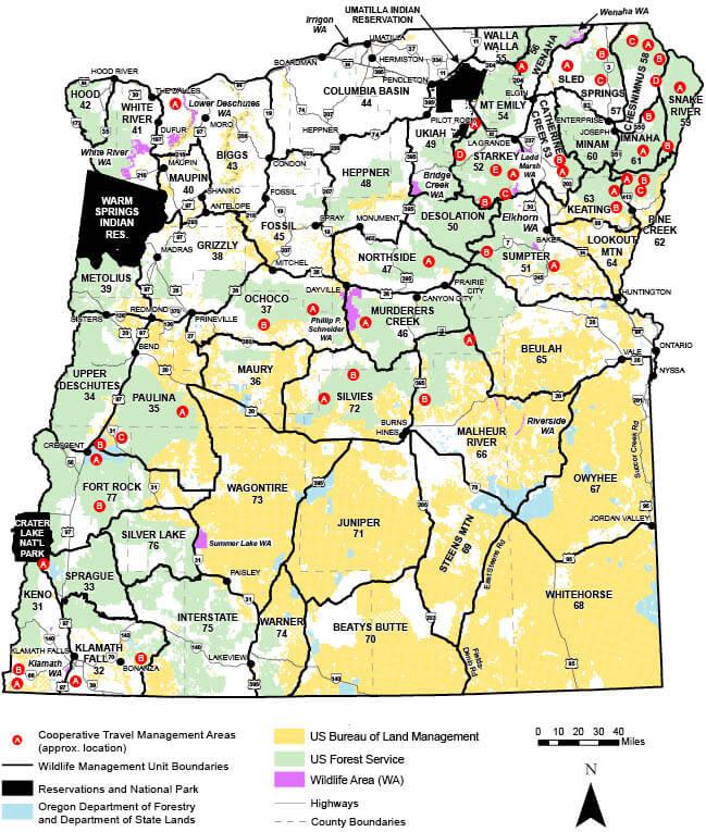 Eastern Oregon Wmu S Oregon Hunting Seasons Regulations 2019
