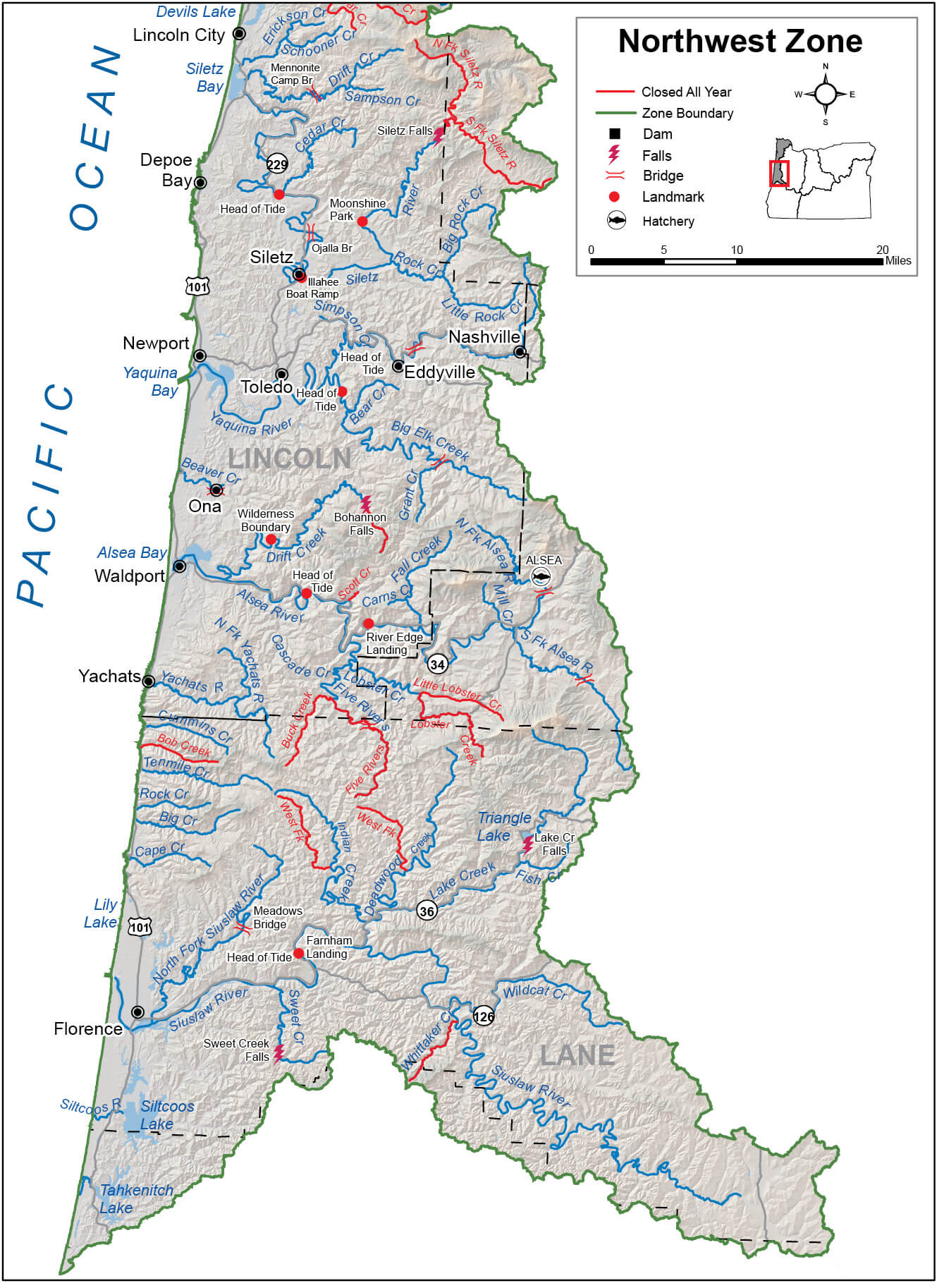 Northwest Zone Regulations & Map | Oregon Fishing