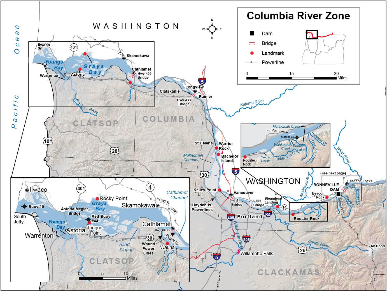 Columbia River Zone Regulations & Map | Oregon Fishing