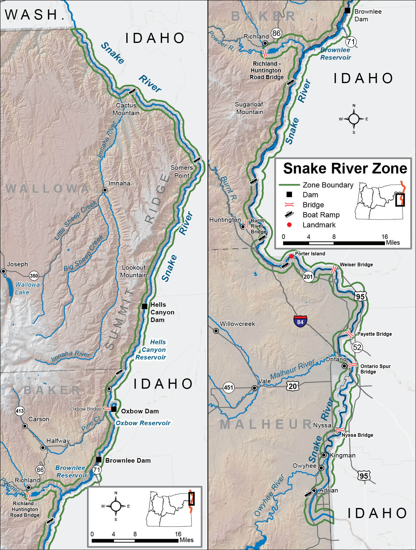 Snake River Zone Regulations & Map | Oregon Fishing
