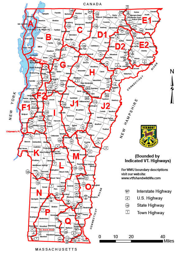 Wildlife Management Unit Map | Vermont Hunting Seasons ...