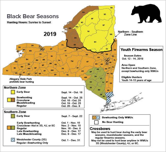Bear Hunting New York Hunting Seasons Regulations 2019