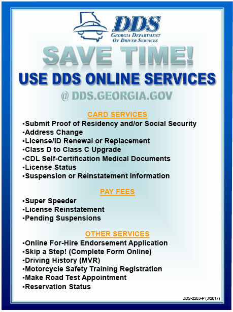 DDS Online Services | Georgia Alcohol & Drug Awareness