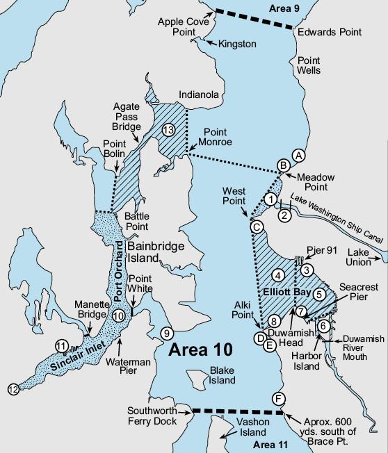 Marine Area 10 Washington Fishing Regulations 2020 Eregulations