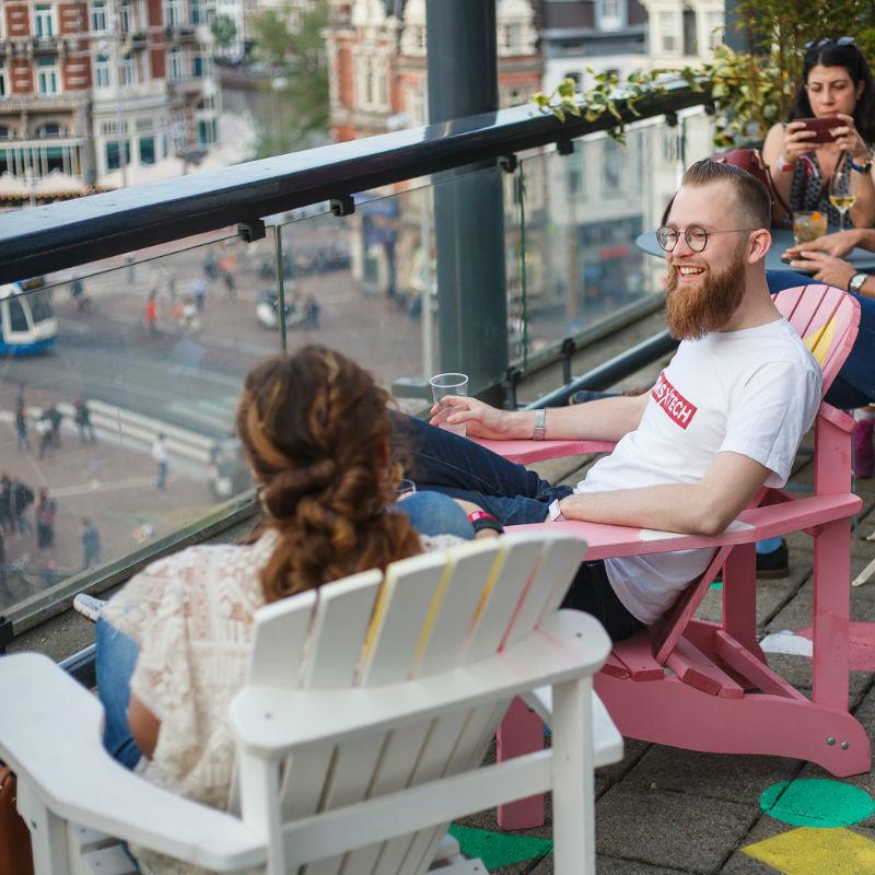 TNW City Amsterdam coworking balcony