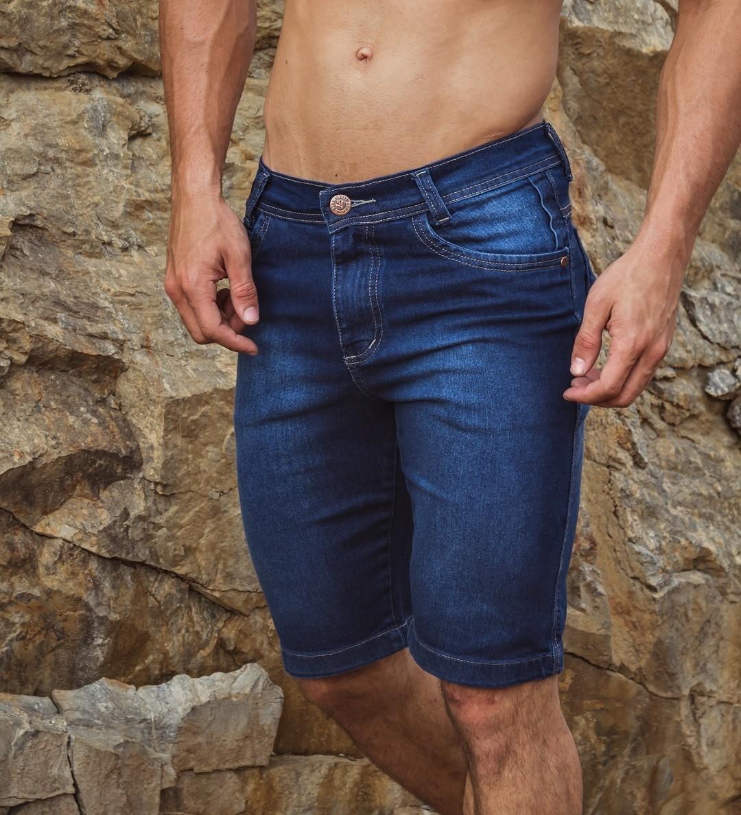 Bermuda jeans masculina Revolucione