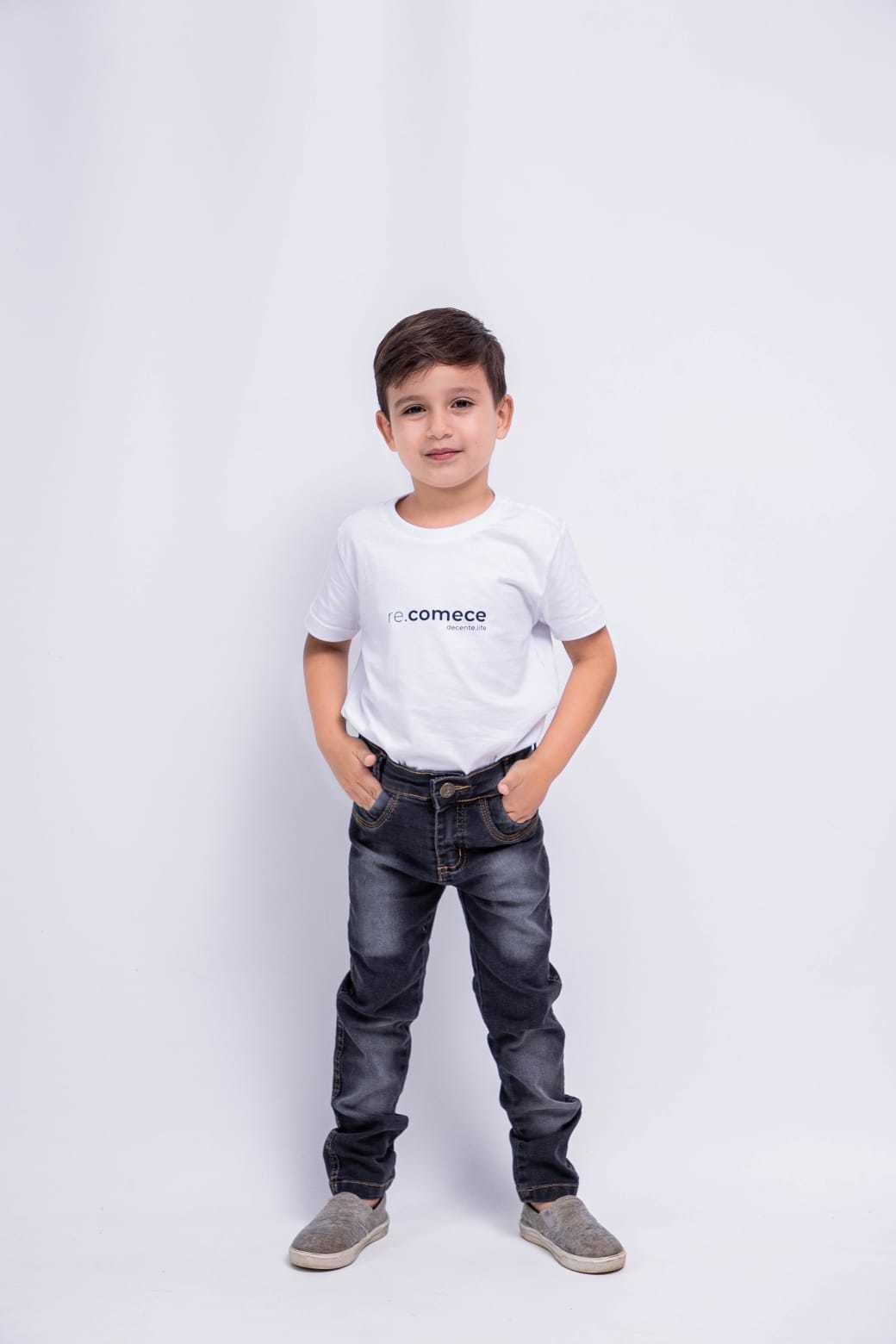 Calça Infantil Jeans Arte de Menino
