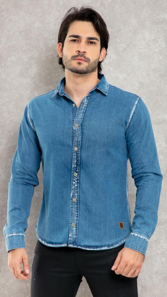 Camisa Jeans Manga longa RCR Original Clothing