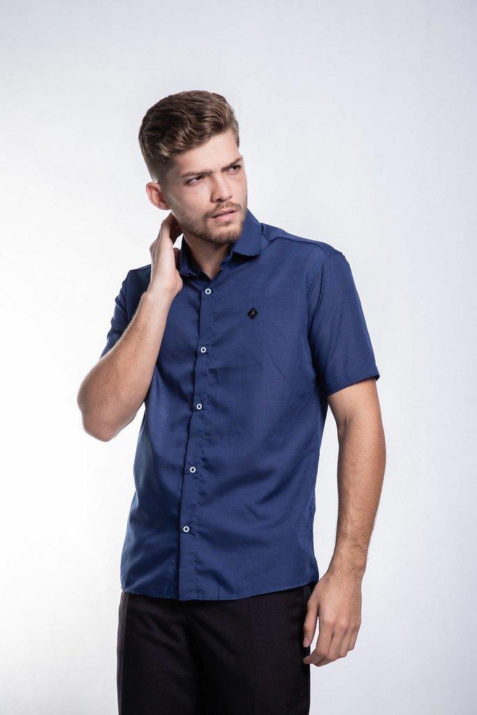 Camisa manga curta lisa