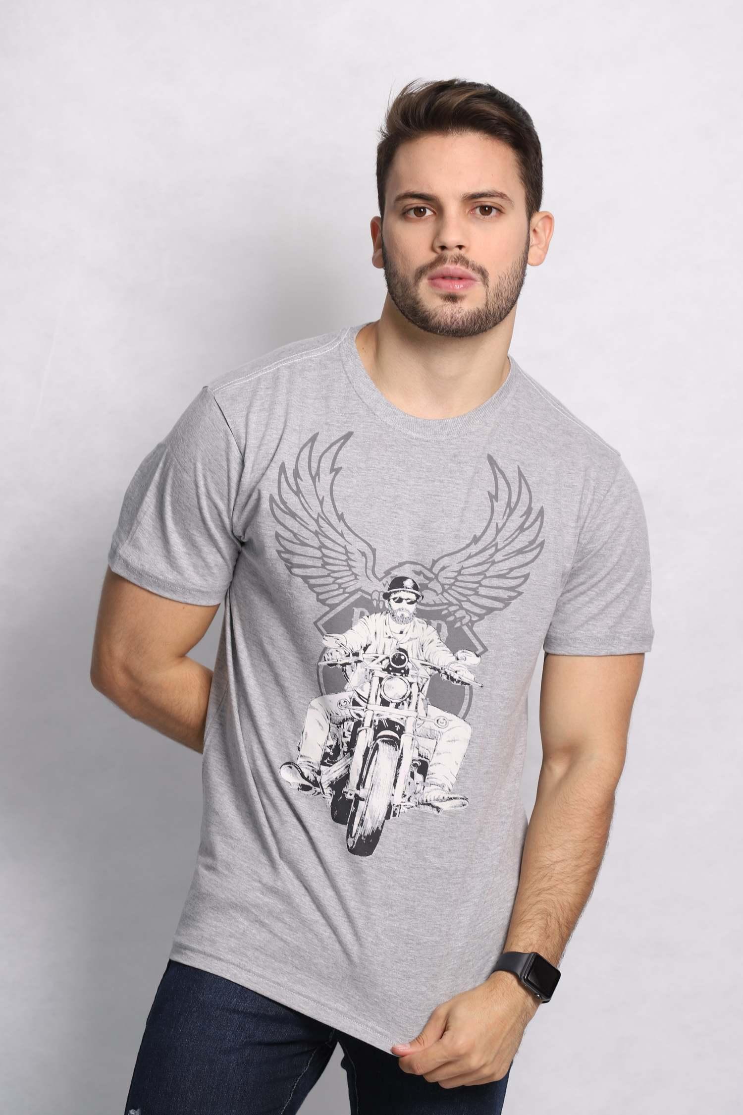 Camiseta masculina estampa Asas do Asfalto