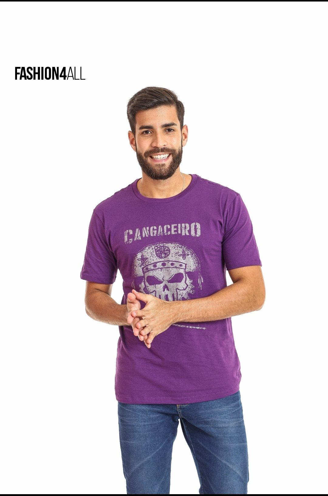 "CAMISETA GOLA CARECA ""O CANGACEIRO"" MATUTO ESTILOSO"