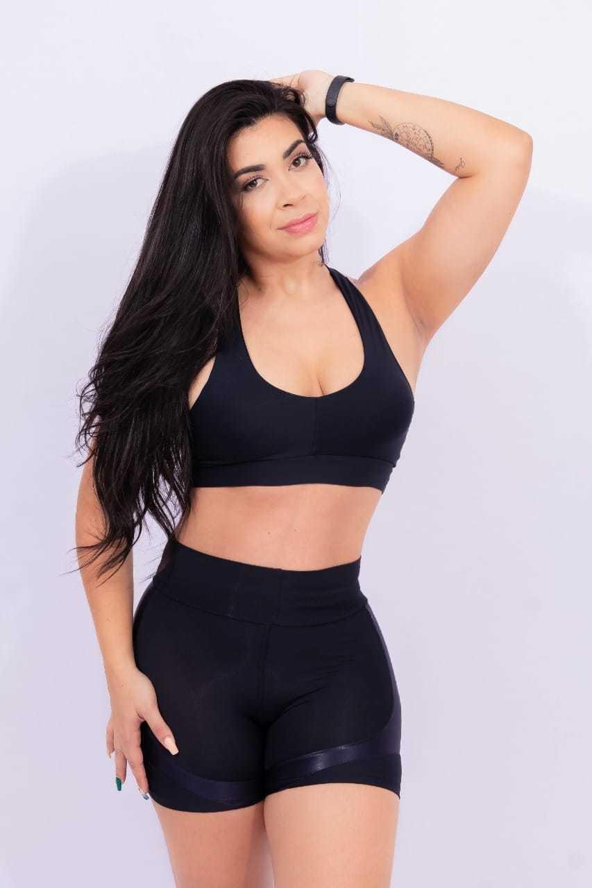 Conjunto de short e top c/bojo - Em Forma Fitness